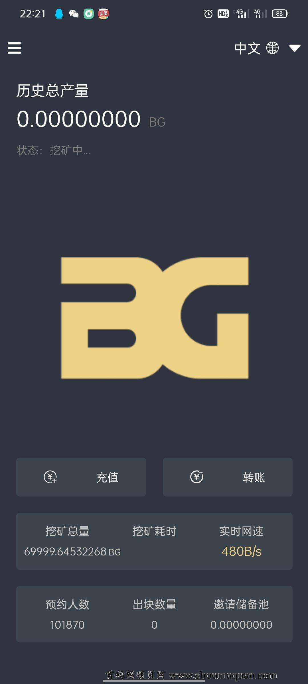 零撸布瑞吉,简称BG,限量70000挂机挖币